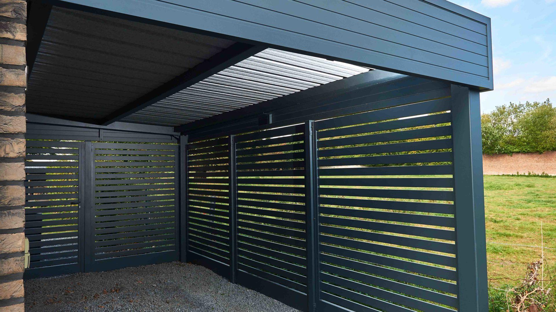 Brise-vue bellerive carport en aluminium