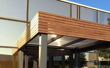 Bandeau Sherwood carport aluminium et bois