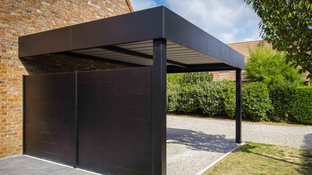 Brise-vue Prestilame carport en aluminium