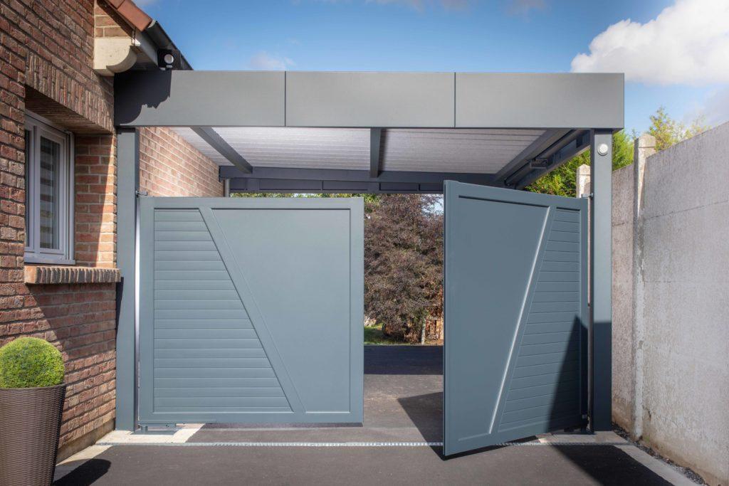 Carport horizon avec portail intégré