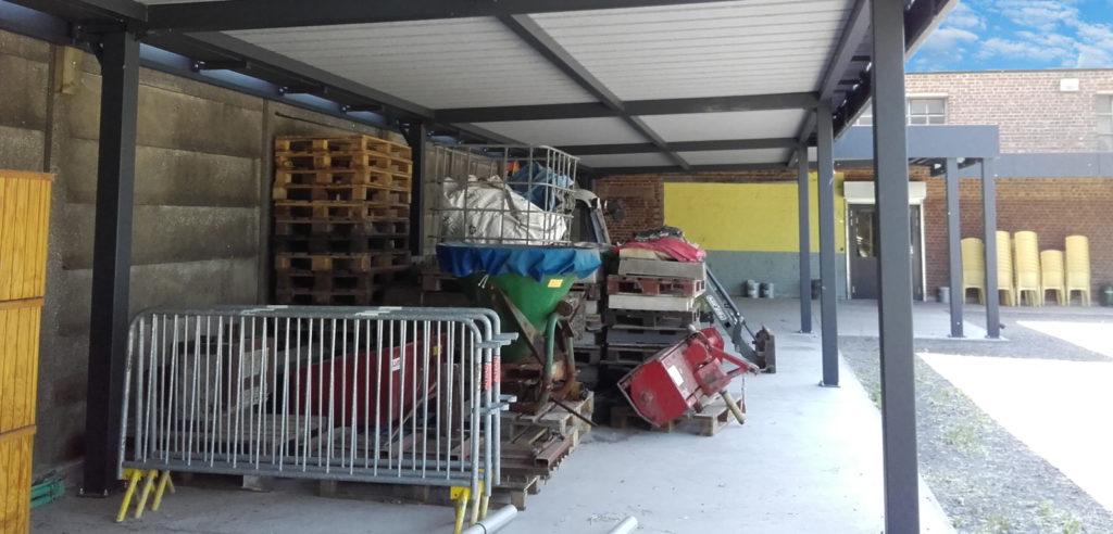 carport collectivité mairie abri matériel